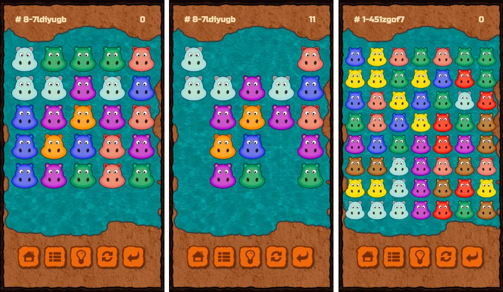 Hide the hippos, juego Android